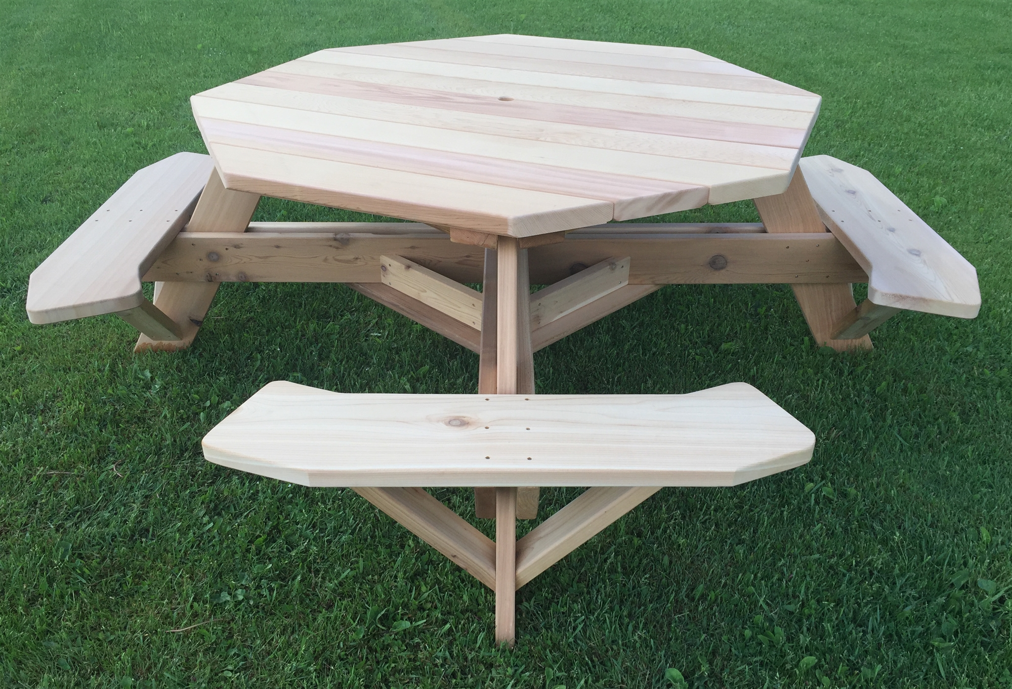 Woodshed Dallas Hexagon Picnic Tables For Sale Yard
